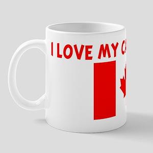 I LOVE MY CANADIAN DAD Mug