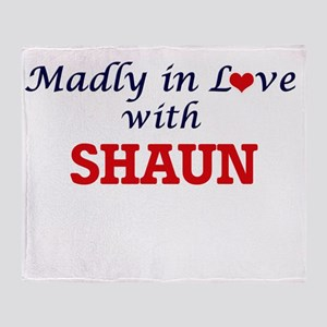 Madly in love with Shaun Throw Blanket