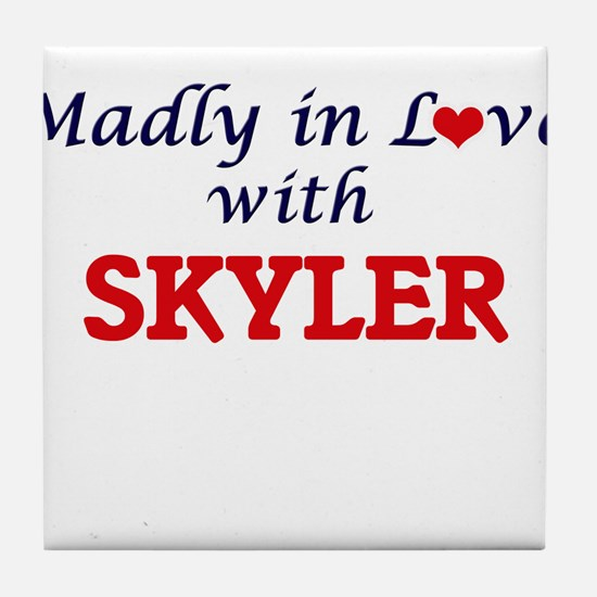 Madly in love with Skyler Tile Coaster