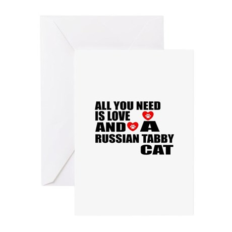 All You Need Is Love Rus Greeting Cards (Pk of 20)