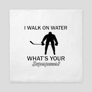 Ice Hockey designs Queen Duvet