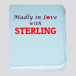 Madly in love with Sterling baby blanket
