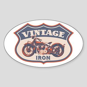 Vintage Iron Oval Sticker