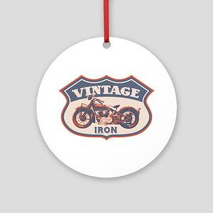 Vintage Iron Ornament (Round)