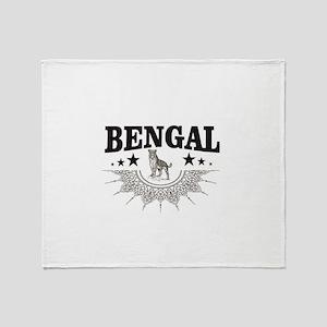 bengal logo Throw Blanket