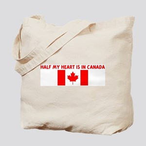 HALF MY HEART IS IN CANADA Tote Bag