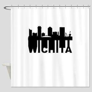Roots Of Wichita KS Skyline Shower Curtain