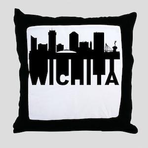 Roots Of Wichita KS Skyline Throw Pillow