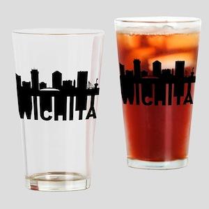 Roots Of Wichita KS Skyline Drinking Glass