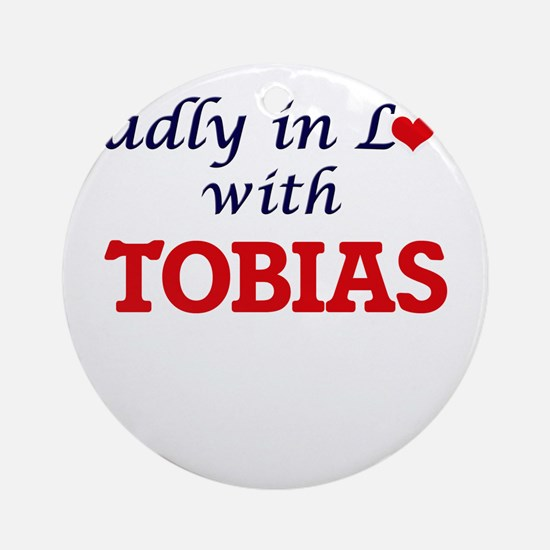 Madly in love with Tobias Round Ornament
