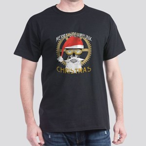 Merry Steampunk Christmas Clothing Skull T-Shirt