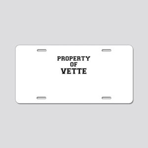 Property of VETTE Aluminum License Plate