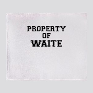 Property of WAITE Throw Blanket