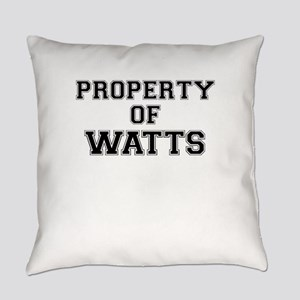 Property of WATTS Everyday Pillow