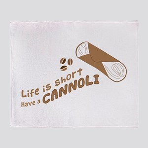 Have A Cannoli Throw Blanket