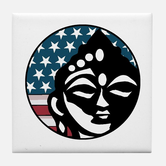 American Buddhist Tile Coaster