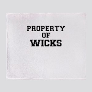 Property of WICKS Throw Blanket