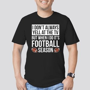 Football Season Men's Fitted T-Shirt (dark)