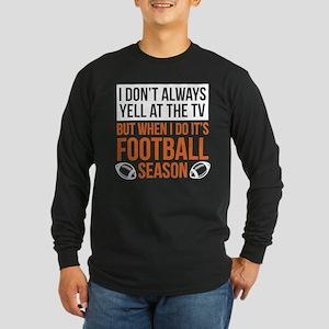 Football Season Long Sleeve Dark T-Shirt