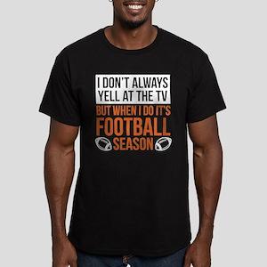 Football Season Men's Fitted T-Shirt (dark)
