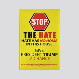 """Stop The Hate"" Refrigerator Magnets"
