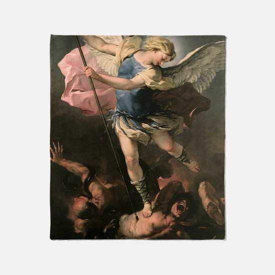 Unique Archangel michael Throw Blanket