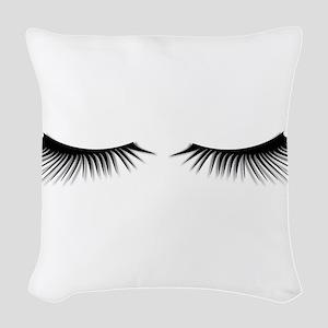 Eyelashes Woven Throw Pillow