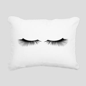 Eyelashes Rectangular Canvas Pillow