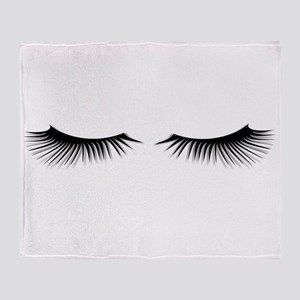 Eyelashes Throw Blanket