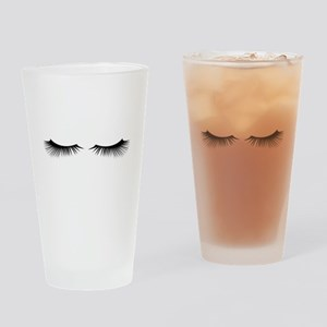 Eyelashes Drinking Glass