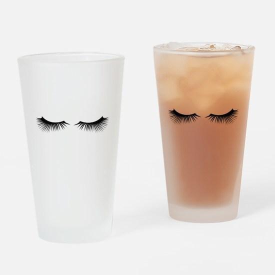 Eyelashes Drinking Glass