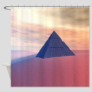 Ancient Pyramid In Desert Shower Curtain