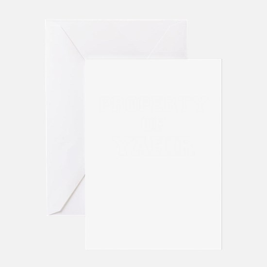 Property of YAHIR Greeting Cards
