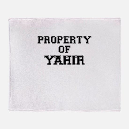 Property of YAHIR Throw Blanket