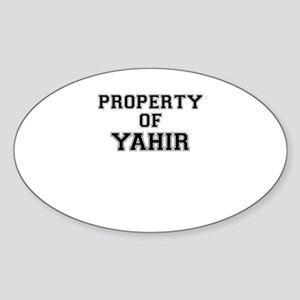 Property of YAHIR Sticker
