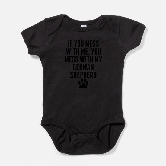 Cute German shepherd dog for men Baby Bodysuit