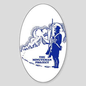 The Minuteman Project Oval Sticker