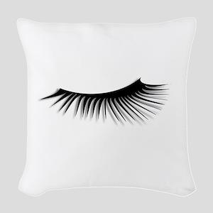 Eye Lash Woven Throw Pillow