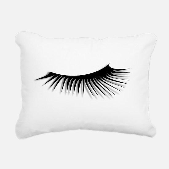 Eye Lash Rectangular Canvas Pillow