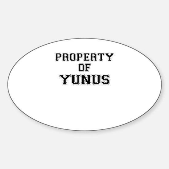 Property of YUNUS Decal