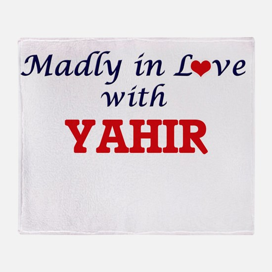 Madly in love with Yahir Throw Blanket
