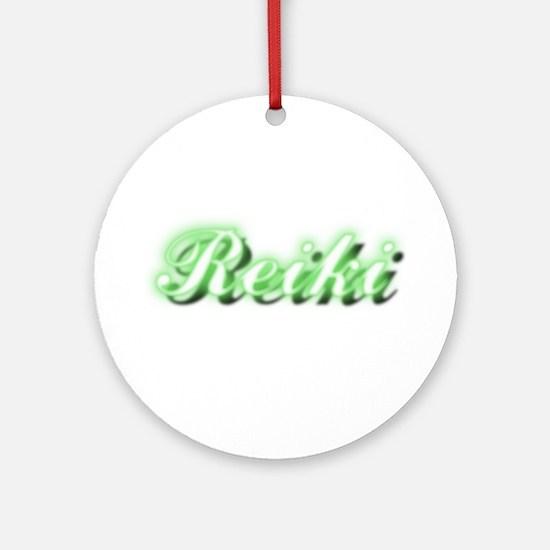 Reiki (Neon Green) Ornament (Round)