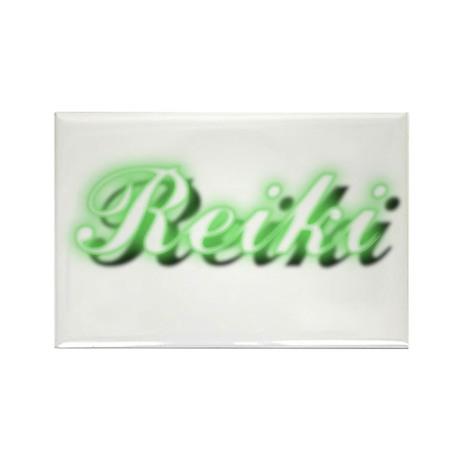 Reiki (Neon Green) Rectangle Magnet (100 pack)