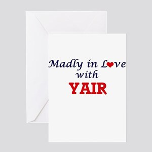 Madly in love with Yair Greeting Cards