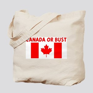 CANADA OR BUST Tote Bag
