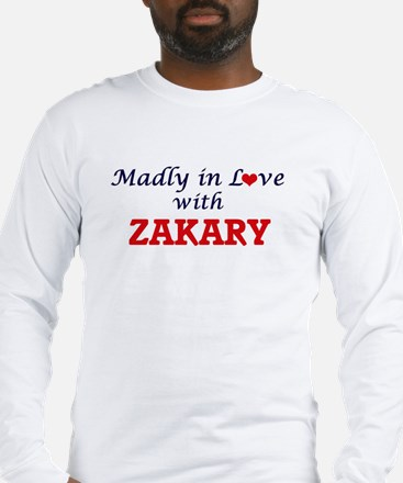 Madly in love with Zakary Long Sleeve T-Shirt