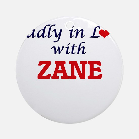 Madly in love with Zane Round Ornament