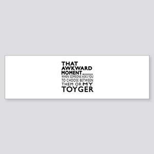 Awkward Toyger Cat Designs Sticker (Bumper)