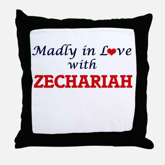 Madly in love with Zechariah Throw Pillow