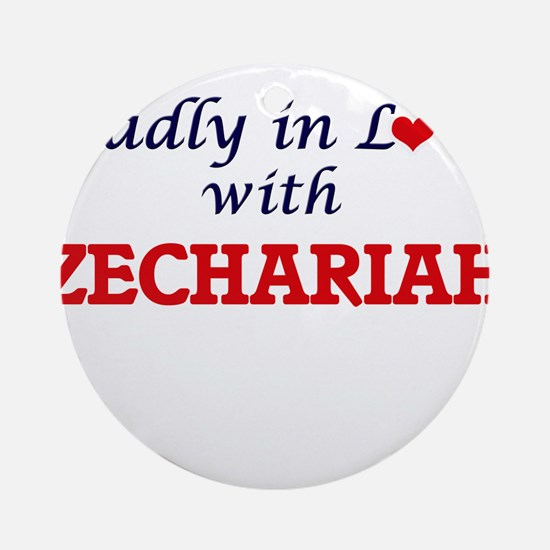 Madly in love with Zechariah Round Ornament